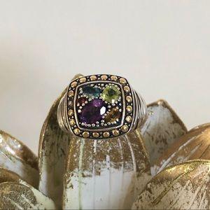 EFFY Multi Gemstone Silver & Gold Statement Ring